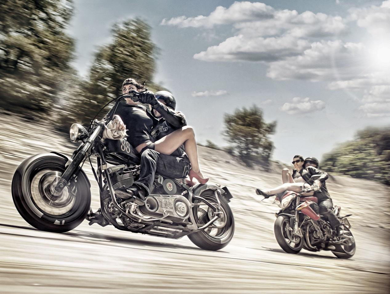 couples à motos photographiés par le photographe DINGO
