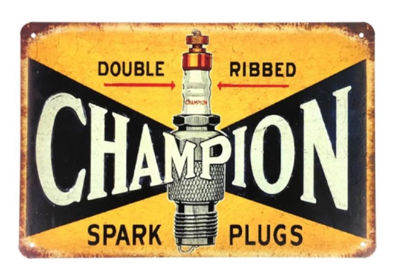 Plaque métallique vintage