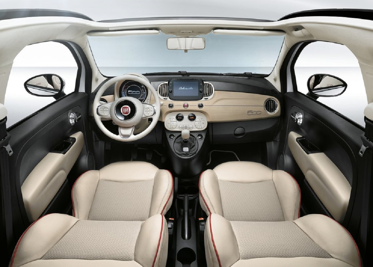 Habitacle de la Fiat 500 Dolce Vita