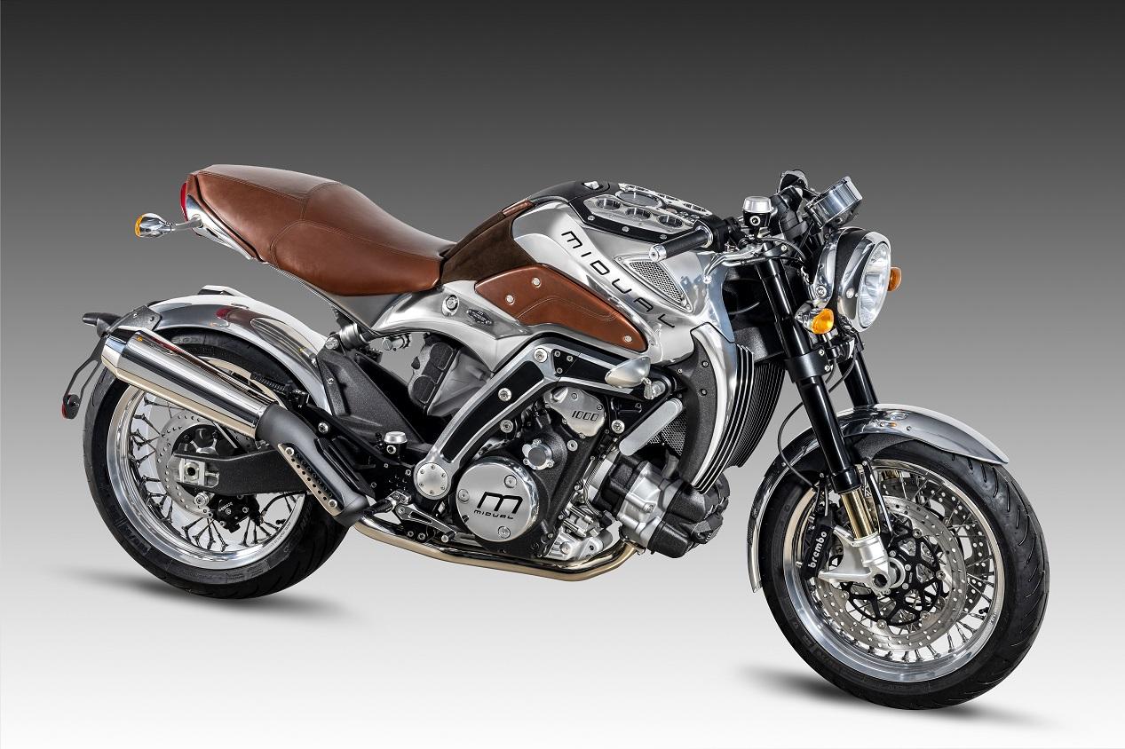 Moto haut de gamme française modèle Midual Type 1 modèle 2021