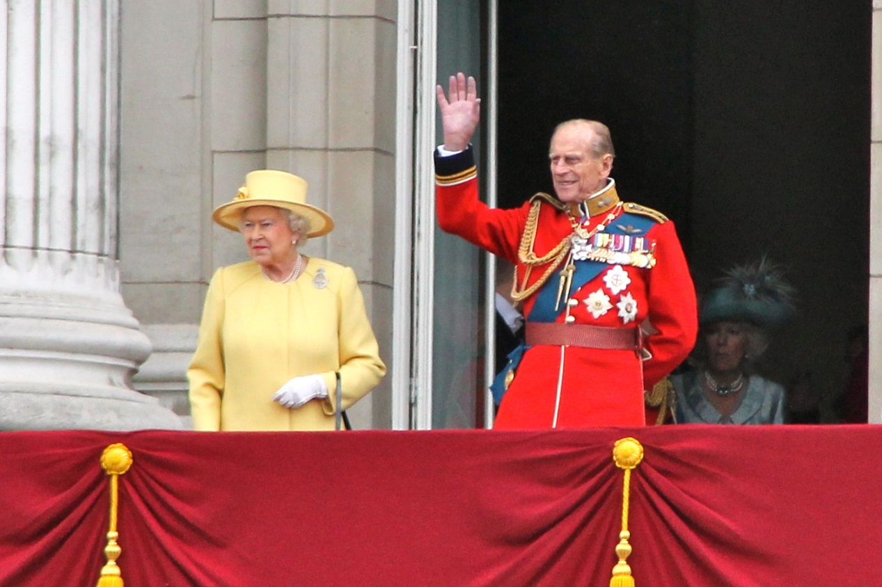 Le prince philip d'Angleterre avec la reine Elizabeth II le 16 juin 2012