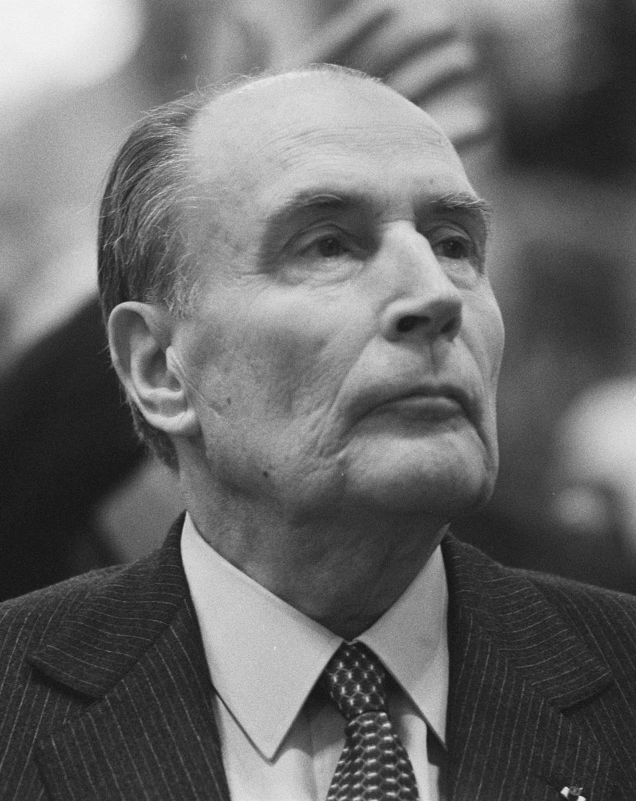 Le président de la république François Mitterrand en 1988